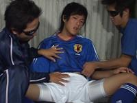 合宿中のサッカー部員を呼び出して溜まった精液を搾り取る