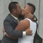 出会った瞬間キスをするほどラブラブなガチムチカップルに密着