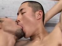 清潔感のある坊主男子の美しい肉体で絶頂するゲイセックス