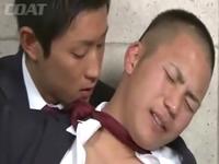 男子学生が男友達とBL ハリのある丸いお尻を突き上げる若いペニス