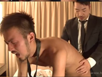 出張先のホテルで先輩と後輩がホモるサラリーマン同士のゲイセックス