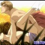 セクシーなイケメンが野外で中出しアナルセックスしてるゲイアニメ
