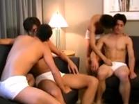 巨根を求めていた男たちの性欲が爆発!乱交ゲイ動画