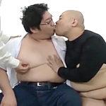 ムチムチのデブ体型がエロい男同士でおちんちんを舐め舐め