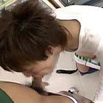 BL店員がコンビニ店内でイケメン客を相手にフェラチオやアナルセックス