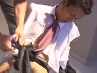 イケメンサラリーマンを拉致してスーツを破り凌辱!ゲイのヤンキーは恐ろしい