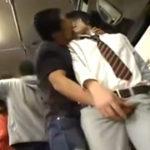 ゲイにお金を貰って痴漢されるイケメン男子学生が股間を握られてウブな反応を晒す