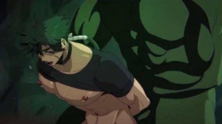 モンスターに犯される男戦士4